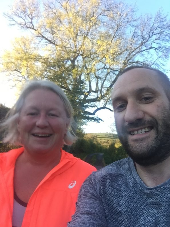 Paul and Michele out for a 5 mile Run/Walk