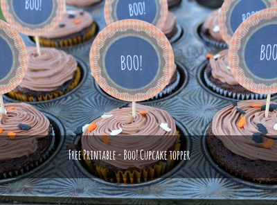 Boo Cupcake Tag- free printable