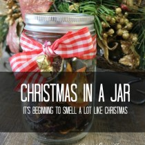Christmas in a Jar. www.ourlifeinspired.com