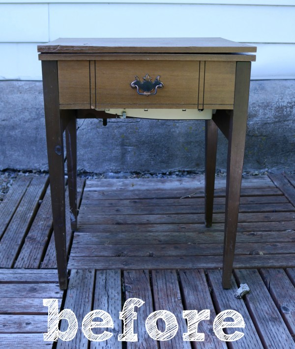 Sewing Table- Before |www.ourlifeinspired.com
