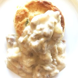Breakfast Biscuits & Sausage Gravy.