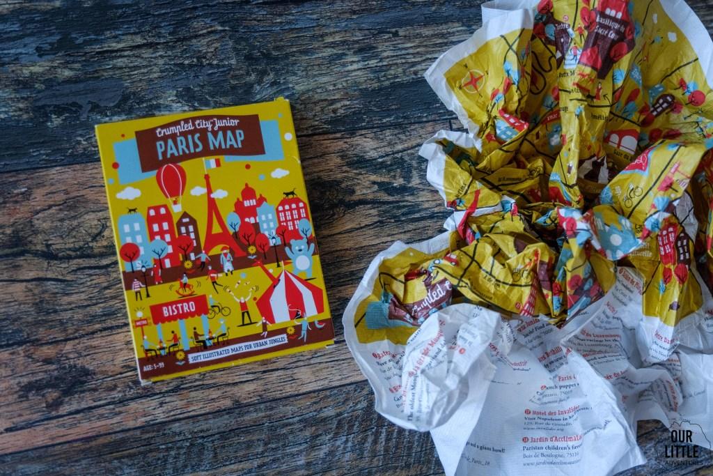 Mapy dla dzieci, Paris Map, Crumpled City Junior, Palomar, Our Litte Adventures