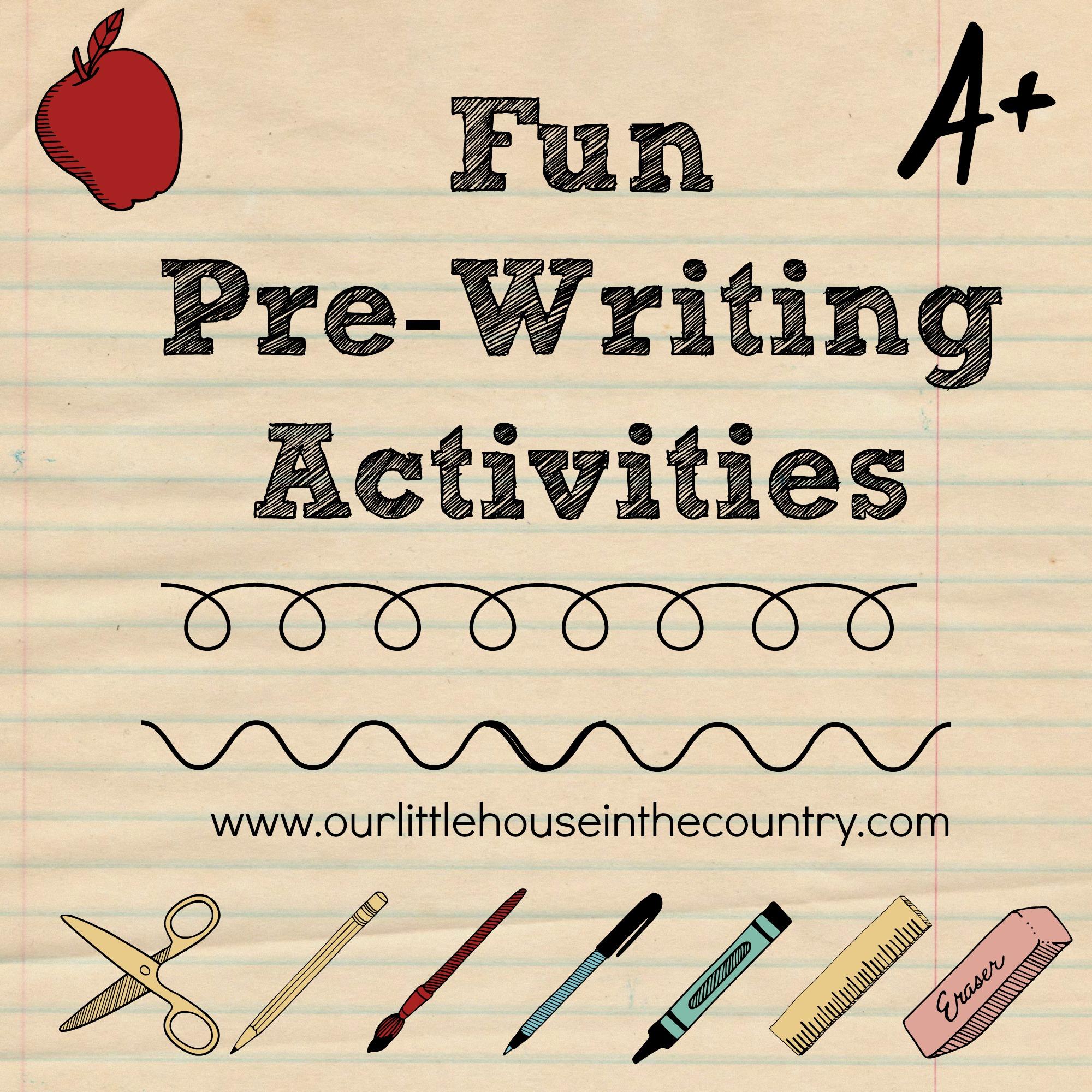Preschool Pre Writing Skill Worksheets