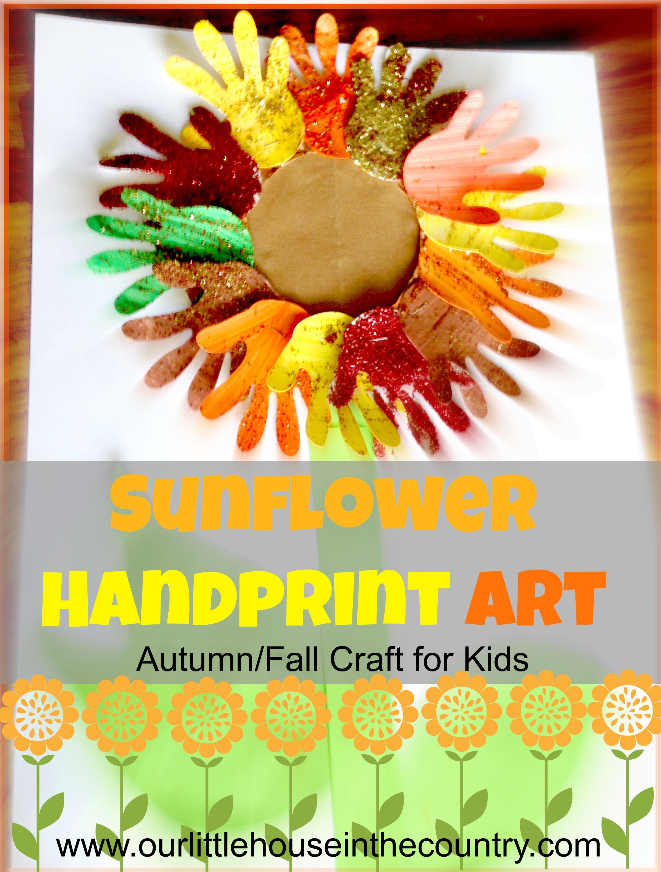 Sunflower Handprint Art 2 Autumn Fall Art Activities For Kids