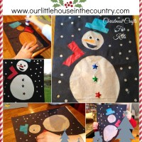 Snowman Stained Glass Windows