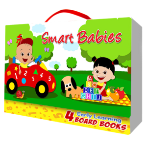Smart Babies Early Learning Board Books with Carry Case (Kids Story Books)