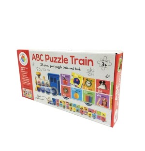 ABC PUZZLE TRAIN - 28 Piece Giant Puzzle Train and Book (Kids Activities)