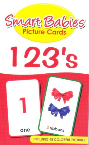 Smart Babies PICTURE CARDS- 123's (Kid's Educational Books)