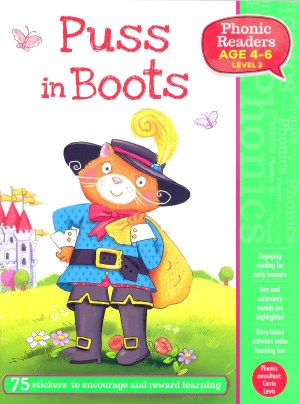Puss in Boots - Phonic Readers Age 4-6, Level 3 (Kid's Educational Books)