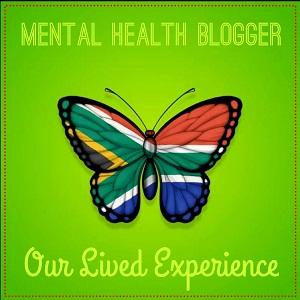 Mental health blogger button