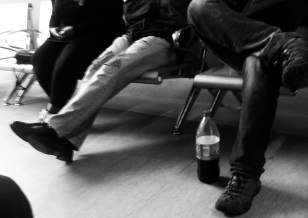 Psychiatric outpatients waiting room, BYOB.