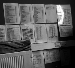 Shrink's office wall.