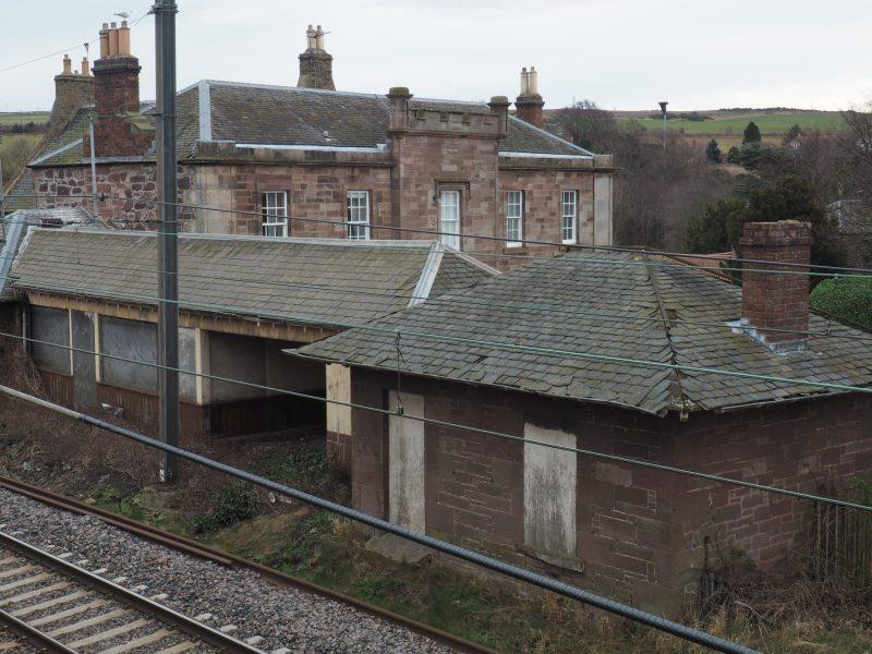 The platform for East Linton Station