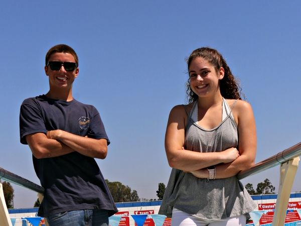Sunset league Diving Champs - Jake Butler and Mary Sojian of Los Alamitos High School.