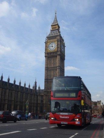 bus anglais à double étages