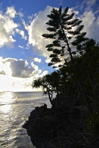 Fin de journée sur presqu'île de Kuto
