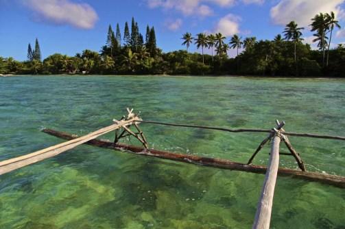 2h de navigation en pirogue pour traverser la baie d'Upi