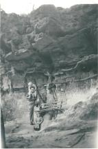 Ross Adams with Kerrie and Julie in Blue Mountains 1959