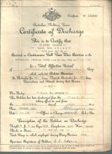 Ross - Army Discharge Document 1946