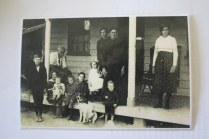 Adams - Waters family taken approx 1915 prior - Grandfather Charles Waters seated at left