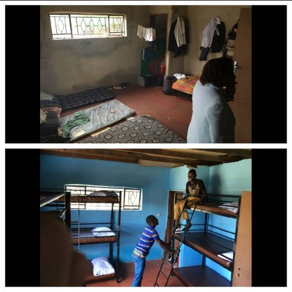 The boys room. Top image: The day we arrived around a month ago. Bottom image, last week. Spot the difference. :)
