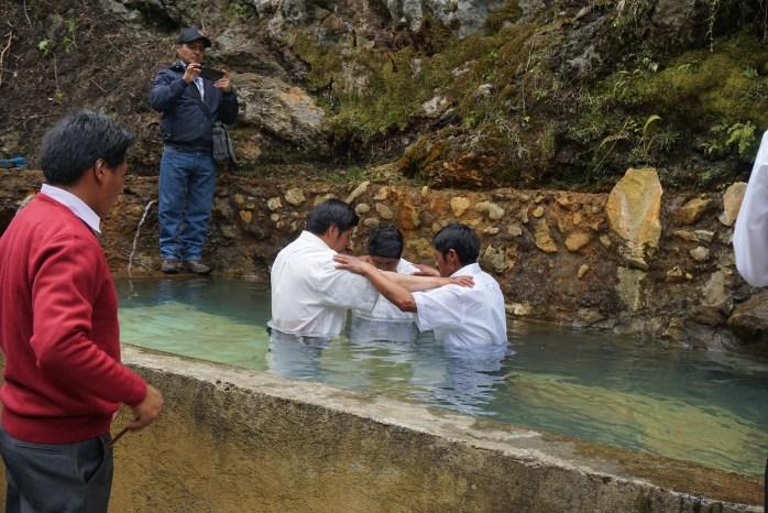 Pastor Luis and his Deacons preparing through prayer