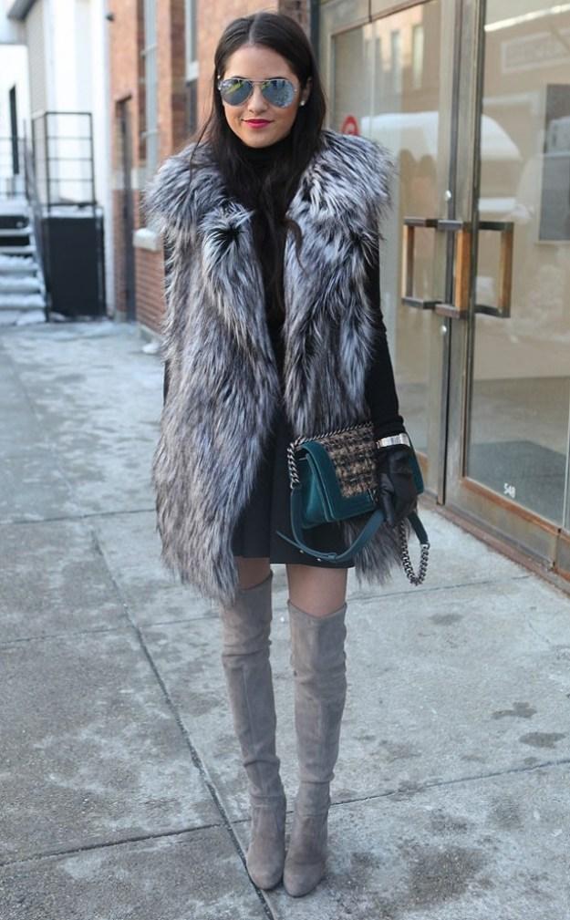 Stylish Ways to Wear a Fur Vest 4