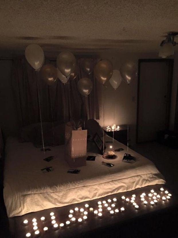 romantic valentine's day bedroom decorations ideas
