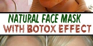 Natural Facial Mask with Botox Effect