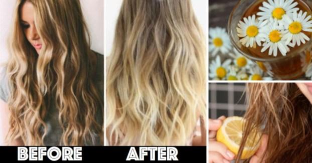 DIY Ways to Lighten Your Hair Naturally