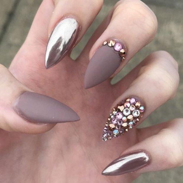 metallic nail designs to try now 2