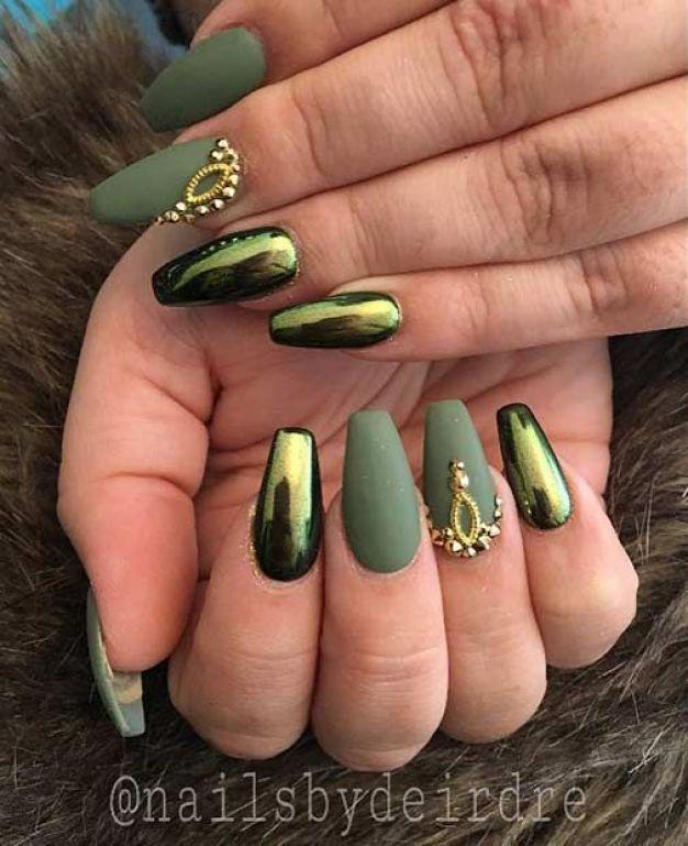 metallic nail designs to try now 4