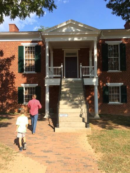 Walking up to Appomatox Courthouse