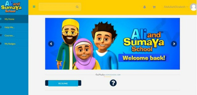 Ali and Sumaya school homepage