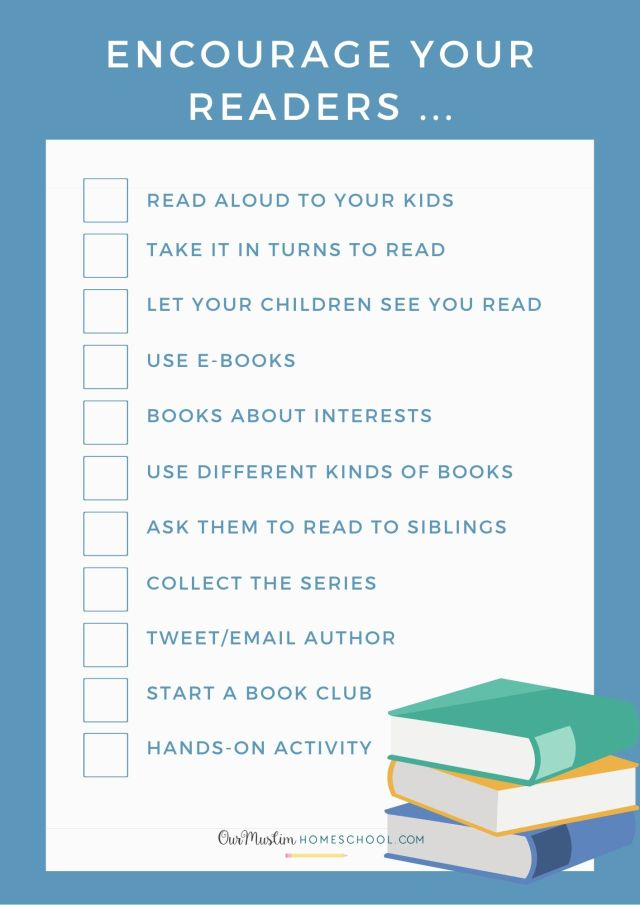 Encourage your Reluctant Readers with these ideas! Blog post also includes podcast, video and booklist.