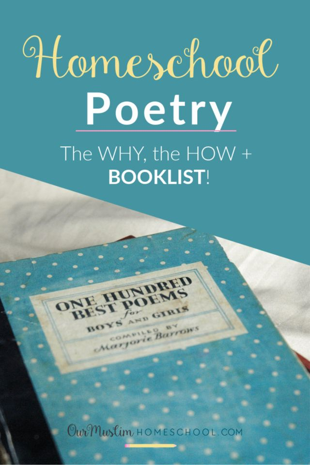 Homeschool Poetry - Why should I bother?