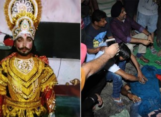 Amritsar train accident : Man playing Ravana