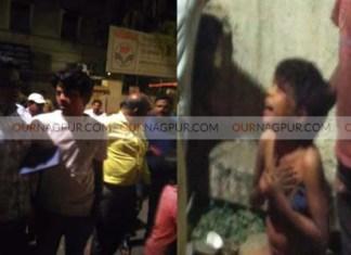 नागपुर : भीख माँगने पर गुस्साए कार चालक ने बच्चे को बुरी तरह पीटा, बच्चा घायल