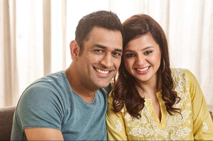 MS Dhoni & Sakshi Dhoni