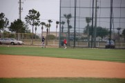Shagging in the outfield with (I think) Roger Bernadina at Spring Training in 2009