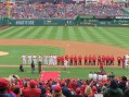 The customary introductions for Opening Day