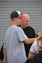 Matt Williams poses for a selfie with me