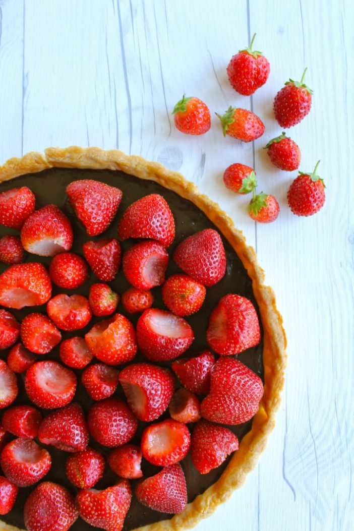 Bittersweet Chocolate and Strawberry Tart: a recipe from Frenchie Paris' Greg Marchand | Our Next Adventure