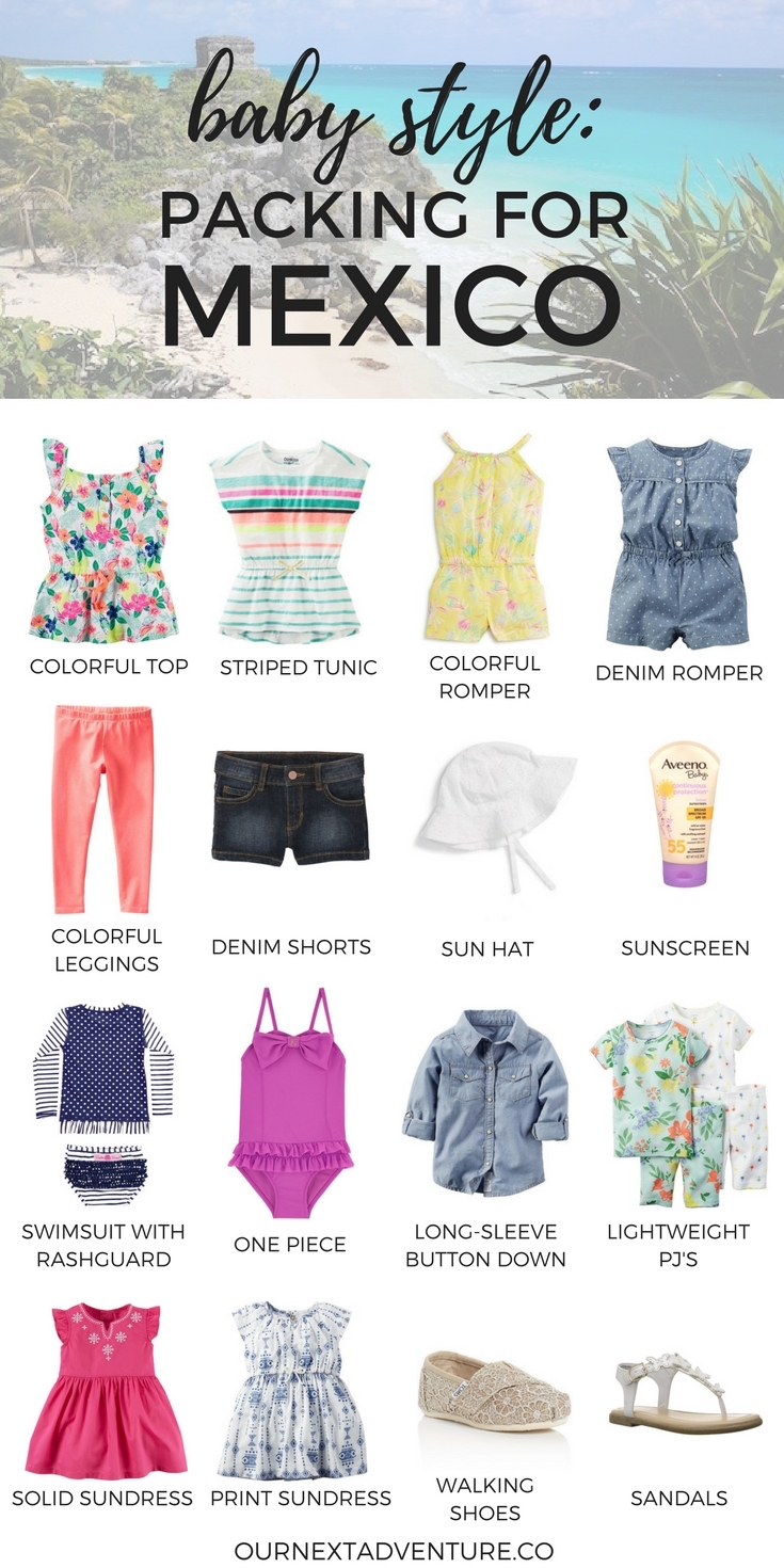Packing for Mexico | What to Pack for Baby | Kids Vacation Outfits | Packing Guide