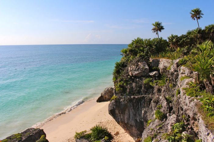 Tips for visiting the Mayan Ruins in Tulum with baby in tow. #tulum #mexico #familytravel // Family Travel | Travel with Kids | Travel with Baby | Mexico | Riviera Maya | Beach Vacation | Cultural Activities | Adventure Travel | Warm Weather Destinations | Family Friendly