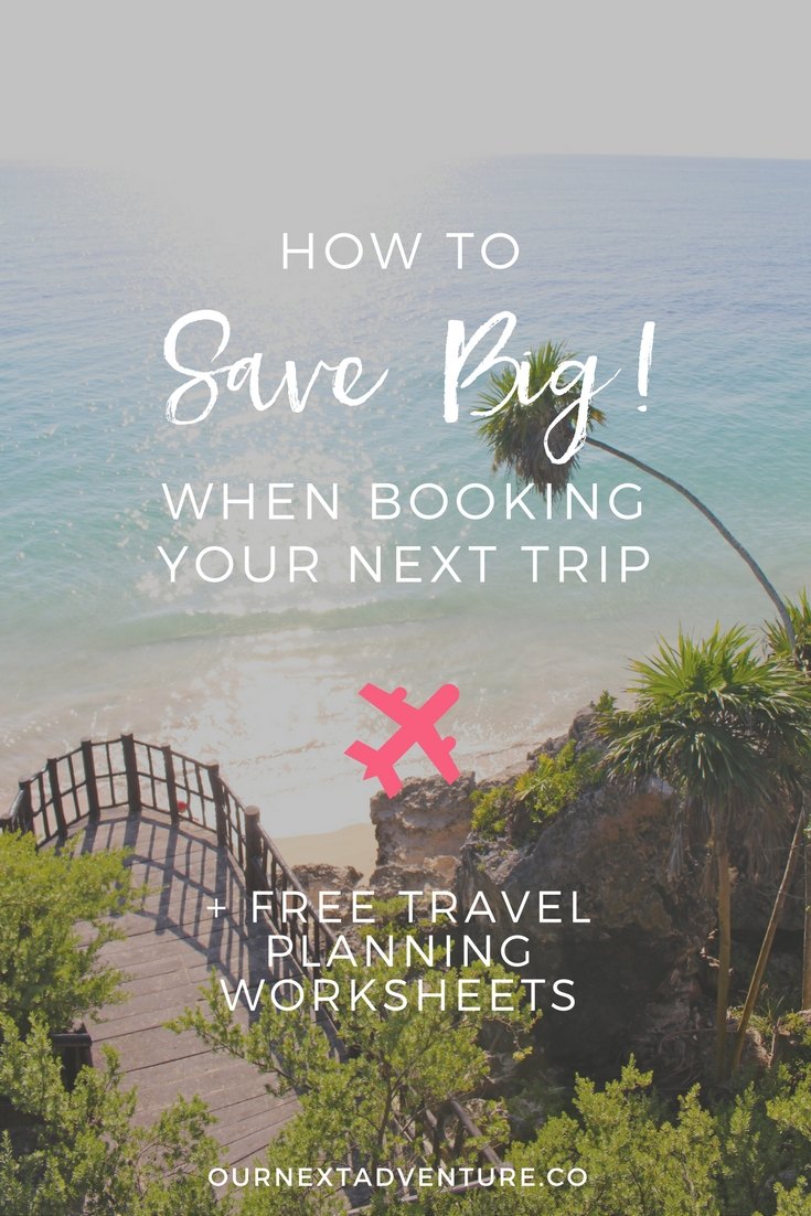 Tips for saving on family travel + free printable family travel planner. #familytravel #traveltips // Family Travel | Travel with Kids | Vacation Ideas | Where to Go | Kid-Friendly Trips | Family-Friendly Destinations | Free Printables | Packing List | Travel Budget | Vacation Checklist | Itinerary | Free Vacation Planner | Travel Savings Plan | How to Budget | Cheap Travel Tricks | Cheap Flights | Affordable Hotels | Free Things to Do