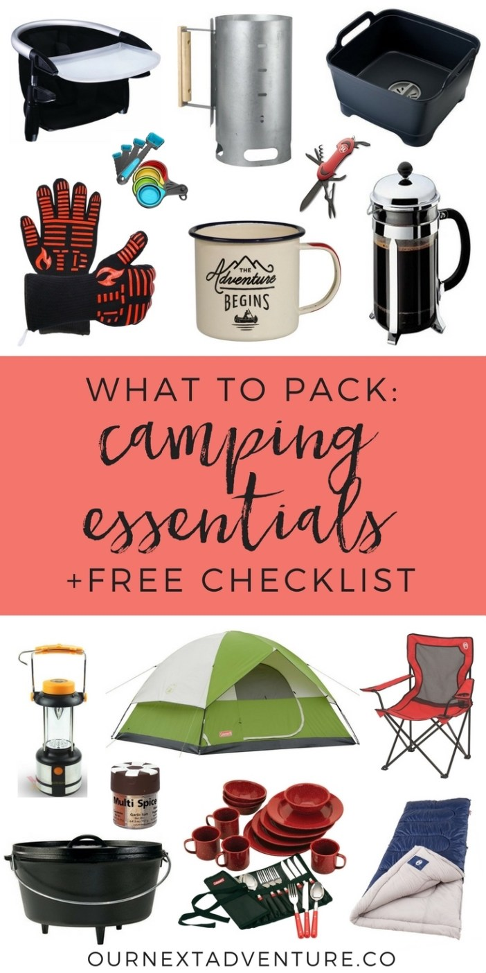 What essential gear do you need for a success family camping trip? Get a free camping essentials checklist now! // Plan Camping Trip | What to Pack | Camping Gear | Camping Essentials | Camping with Kids | Glamping Gear | What to Buy for Camping