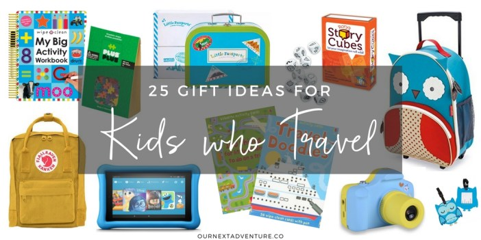 Fun and unique gift ideas for traveling kids who seem to have it all. #familytravel #giftguide // Family Travel | Travel with Kids | Christmas Gift Guide | Travel Gifts for Kids | Holidays | Birthday
