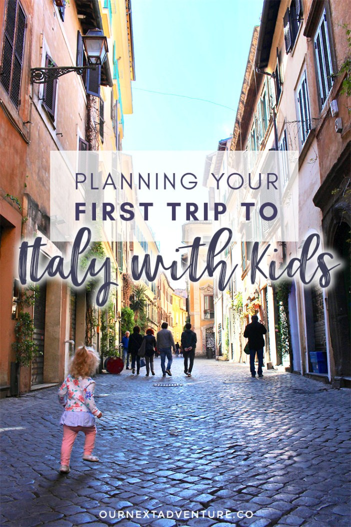 Our 10 best tips for planning your first family trip to Italy with kids. #italy #familytravel // Family Travel | Travel with Kids | Baby Travel | Toddler Travel | Italian Vacation | Family Holiday | Where to Go | When to Go | Things to Do | Travel Planner | Best Cities in Italy | Europe with Kids | Italy by Train | Rome | Florence | Cinque Terre | Milan | Venice | Amalfi Coast