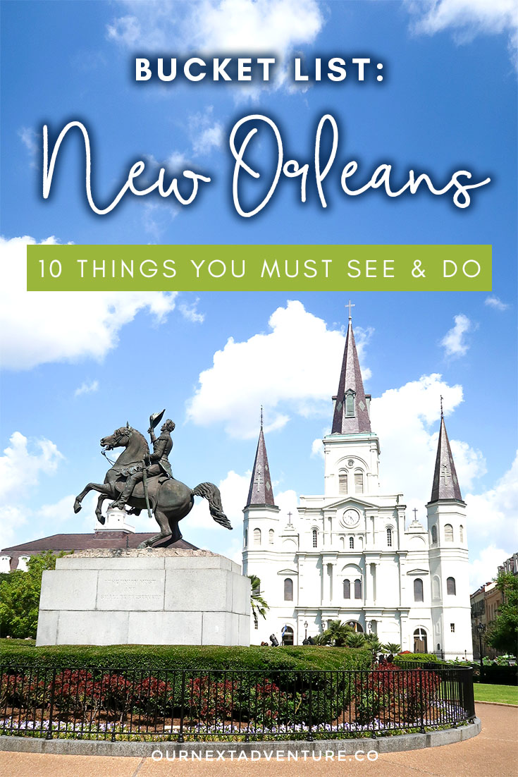 Top 10 things everyone must see and do in New Orleans! #nola #neworleans #familytravel // Family Travel | Travel with Kids | New Orleans Bucket List | Top Things to See in New Orleans | Family-Friendly Things to Do | New Orleans Tours | New Orleans Itinerary | Where to Eat | Kid-Friendly | Family Hotels | Family Trip | Top Attractions | Travel Tips | Hidden Gems | US Travel | United States | the South | New Orleans | NOLA | Louisiana
